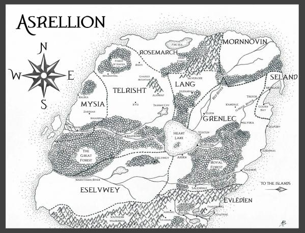 Asrellion map with border